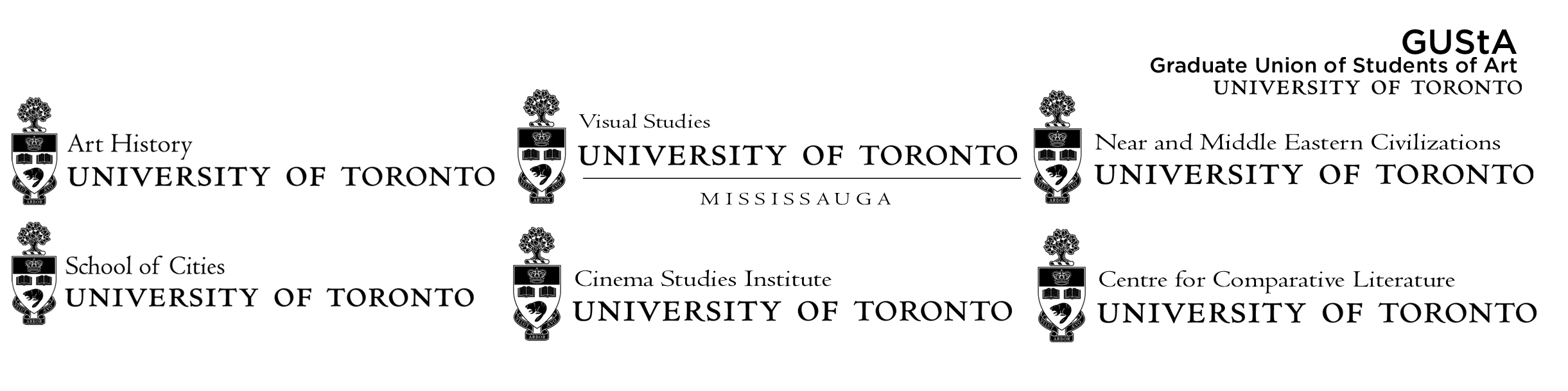 Logos showing the list of departments sponsoring this symposium.